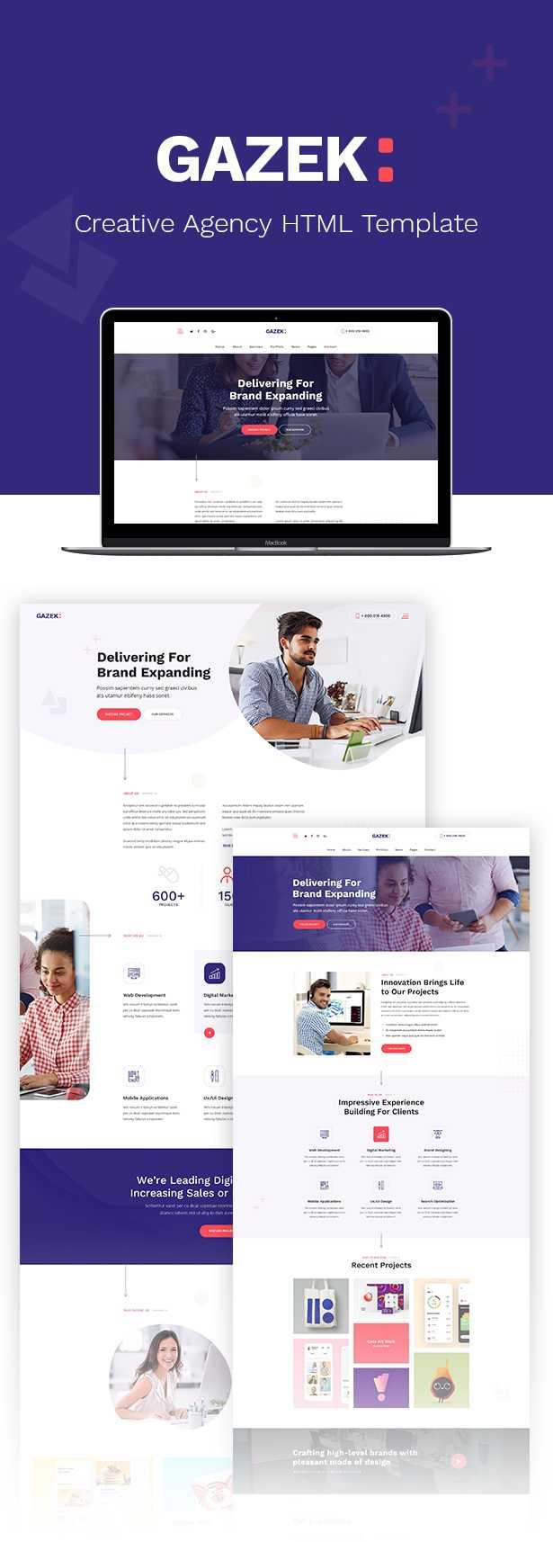 Gazek - Agency Portfolio HTML Template - 1