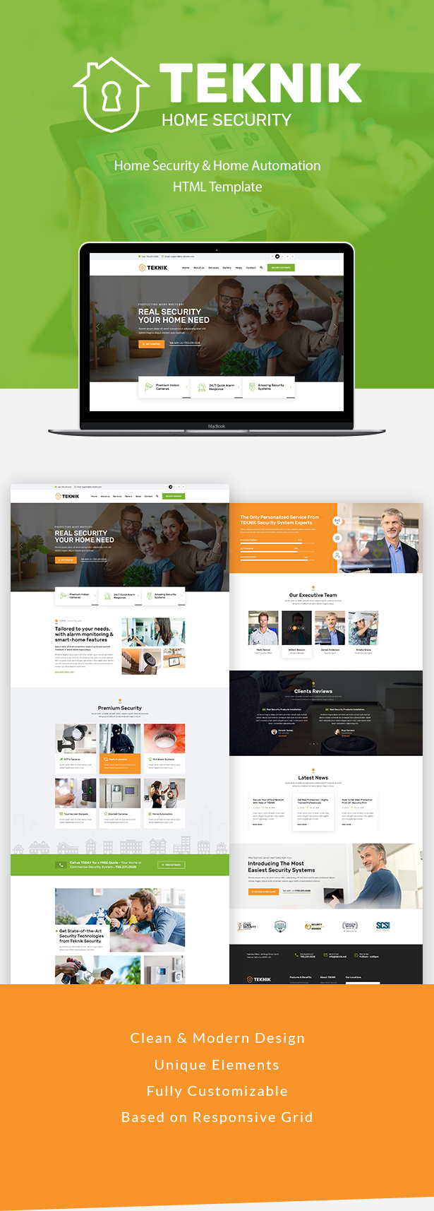 Teknik - Security Services HTML Template - 1