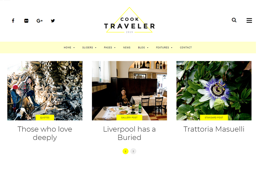 Cook Traveler - Responsive Blog WordPress Theme