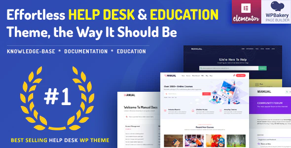 Manual - Documentation, Knowledge Base & Education WordPress Theme