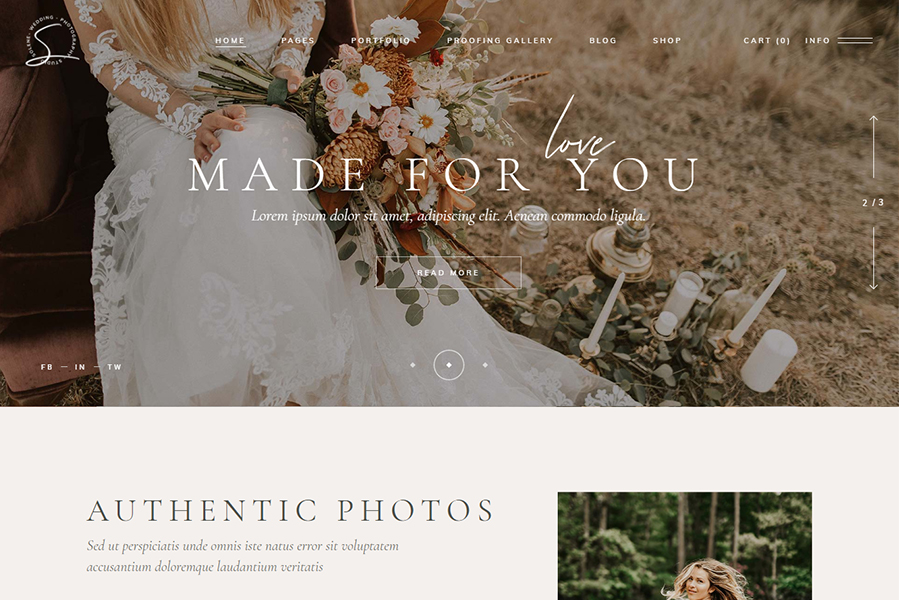 Solene - Wedding Photography Theme
