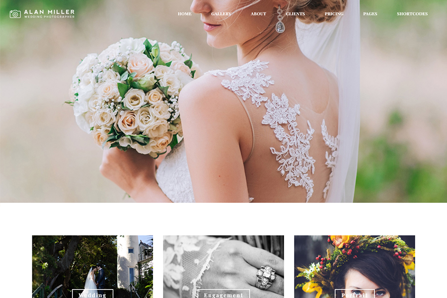 Wedding Photographer WordPress Theme - Vivagh