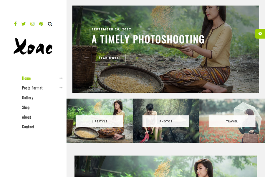 Xoac – Travel Blog WordPress Theme